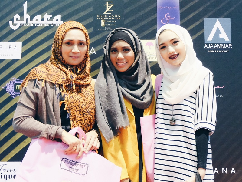 Mother, Mia Suria and Bash Harry from Hey Bash at BIFASH event