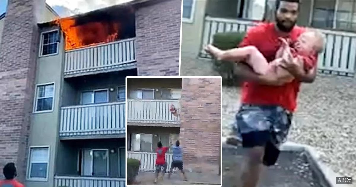 Video Shows Ex-Marine Catching 3-Year-Old Thrown From A Balcony In Tragic Fire That Took The Life Of His Mother