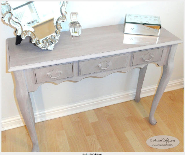 Awesome Shabby Chic Console Table Photograph