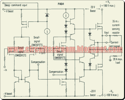Simple Power Op Amp Circuit Diagram