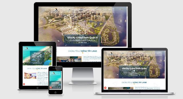Template blogspot bất động sản chuyên nghiệp responsive