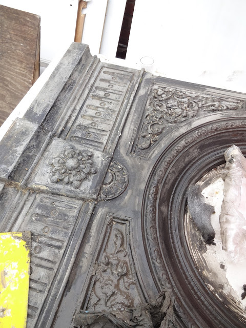 Removing Paint from a Victorian Fireplace