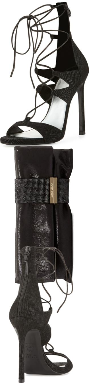 Stuart Weitzman LegWrap Lace-Up Sandal