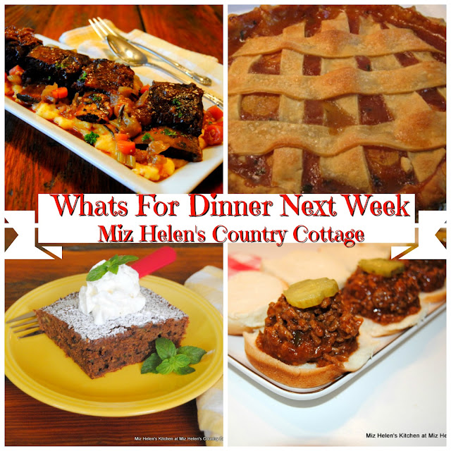 Whats For Dinner Next Week, 9-23-18 at Miz Helen's Country Cottage