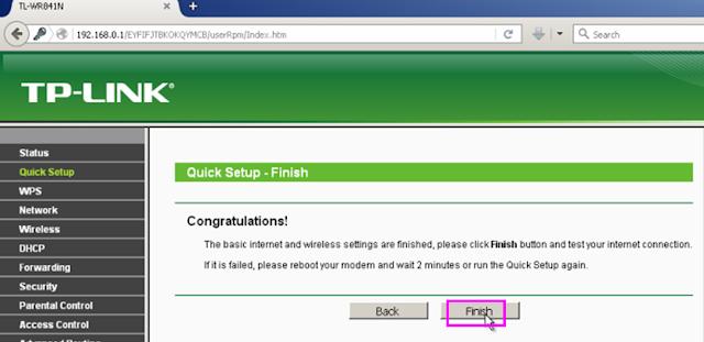 Selesai mengkonfigurasi PPPoE dari Router Tp-link untuk Indihome