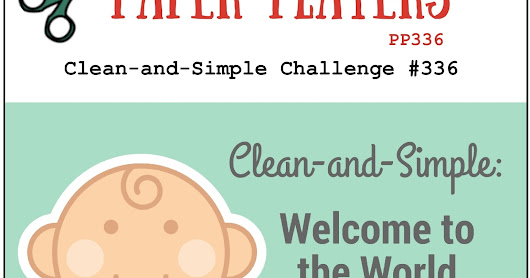 Baby Card - The Paper Players Clean & Simple Challenge