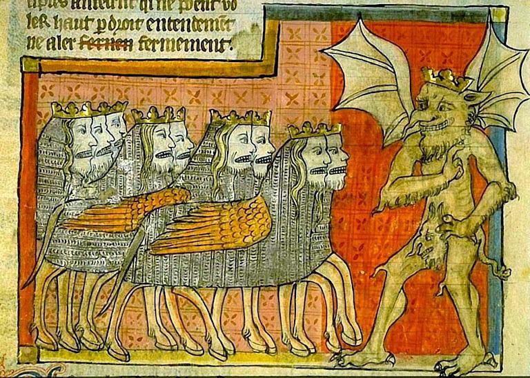 A perseguição do Anticristo. Apocalipse 1220-70. Biblioteca de Toulouse