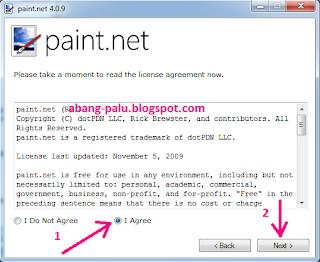 langkah instal paint.net