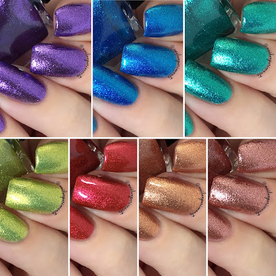 ILNP Spring 2018 Ultra Metallic Brights Collection swatches