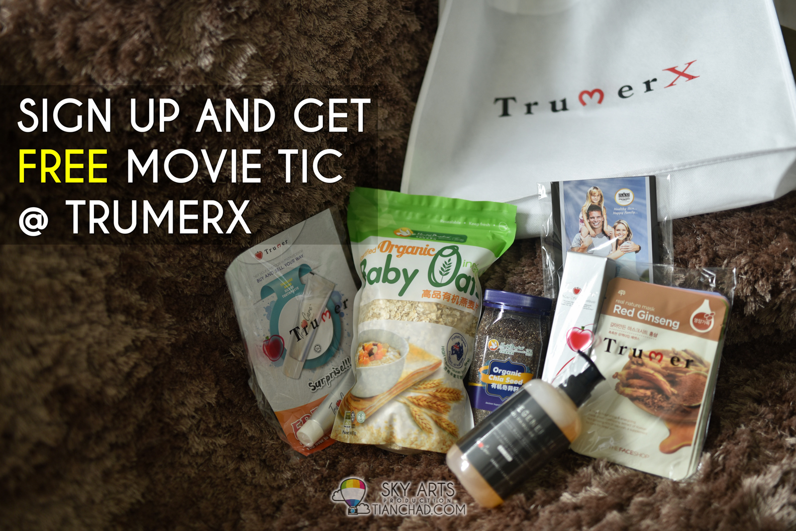 Sign up with TrumerX mobile app and get a free movie ticket OR RM10 off the
