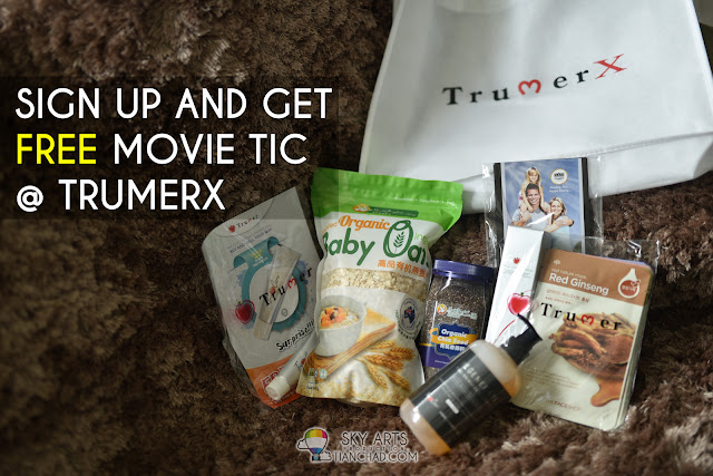 Sign up with TrumerX mobile app and get a free movie ticket OR RM10 off the first purchase