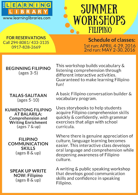 2016 Summer Workshops, Lessons, and Sports Clinics for Kids in Metro Manila