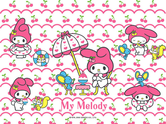 My Melody, Free Printable Invitations, Labels or Cards.