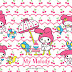My Melody Free Printable Frames, Invitations or Cards.