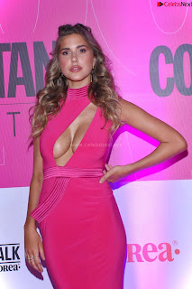 Kara Dell Toro In Stunning Pink Gown at Cosmopolitan Fashion Night in Mexico .xyz Exclusive Pics 002