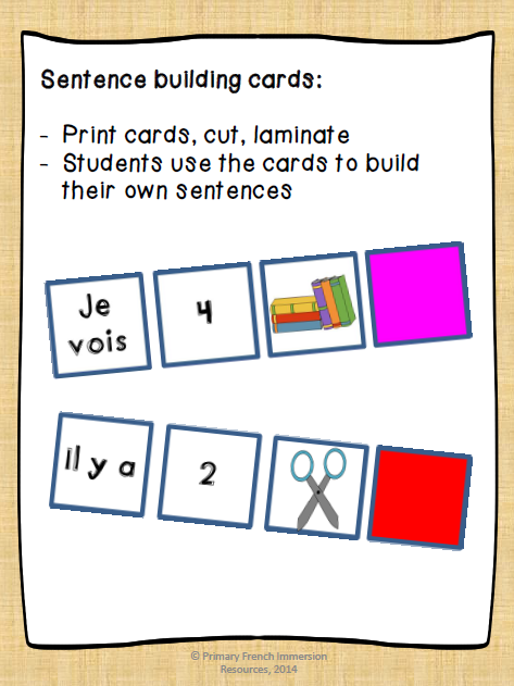 Dans ma salle de classe    - Primary French Immersion Resources