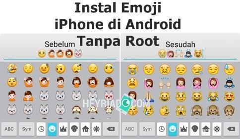 Cara Install Emoji iPhone di Android Tanpa Root