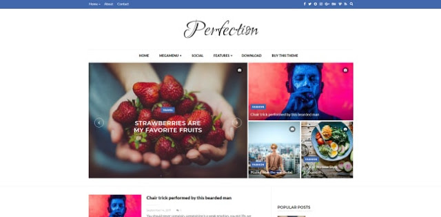 Perfection Blogger template responsive Blogspot theme