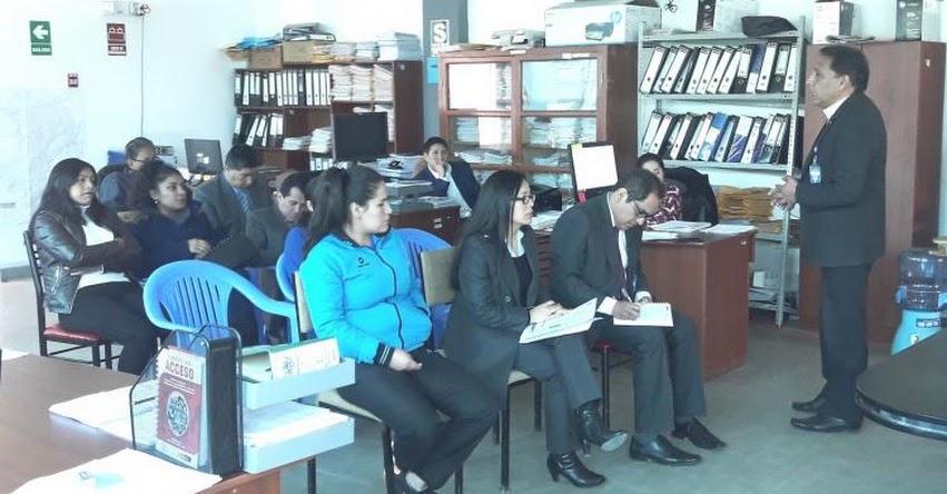 UGEL Santiago de Chuco realizó charla Sobre el Sistema de Control Interno