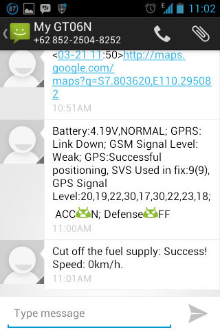 Jogjatracker: Aplikasi Android GT06N SMS Command