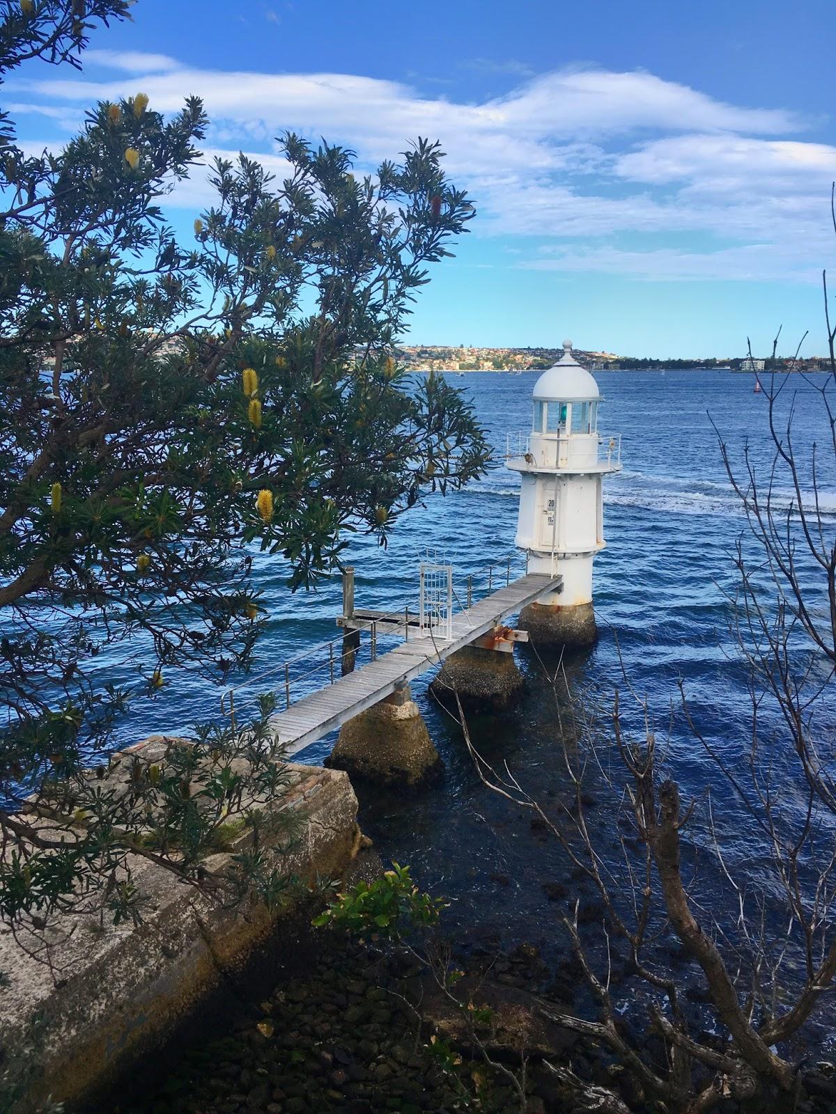 Bradley's head lighthouse on Taronga to Balmoral Walk