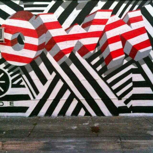 """Make Your Own Way"" New Street Art Piece by British Urban Artist INSA for Art Basel Miami 2013. 5"