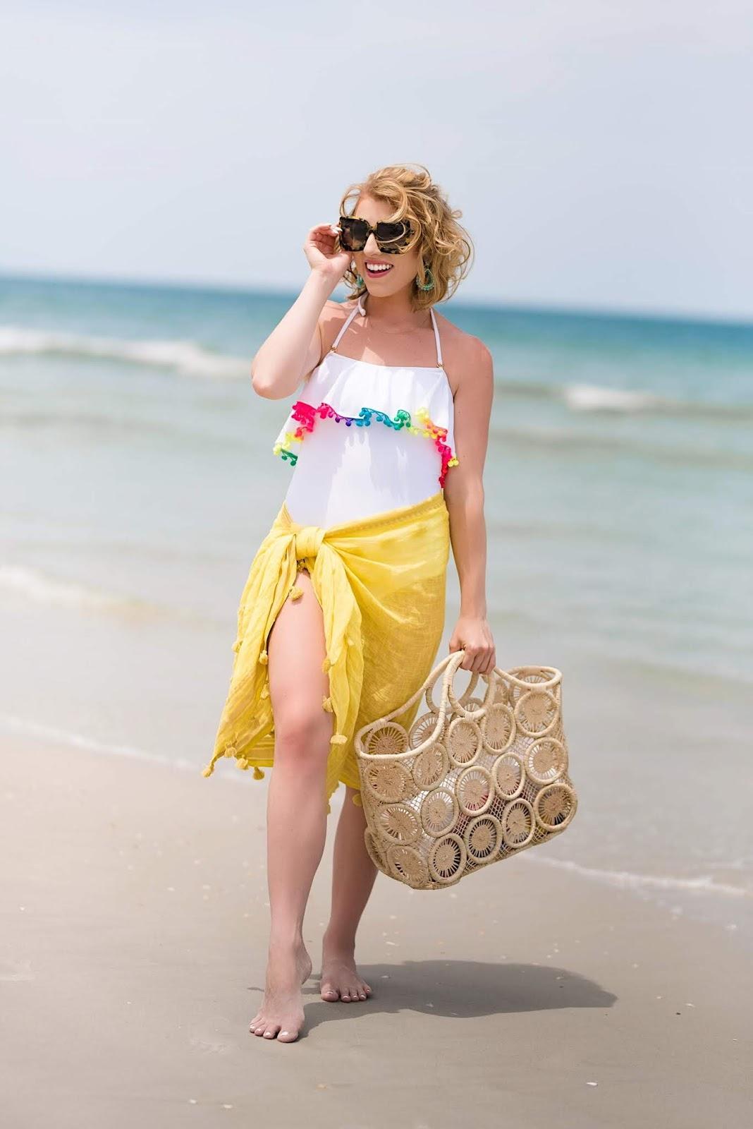Pilyq Pom Pom Swimsuit - Something Delightful Blog