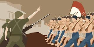 gambar perjuangan melawan belanda