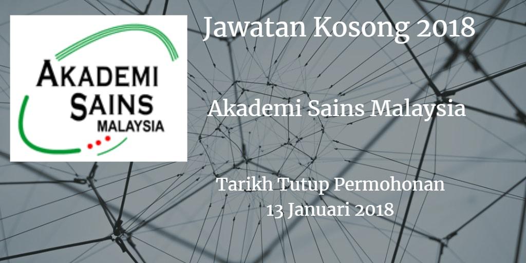 Jawatan Kosong ASM 13 Januari 2018
