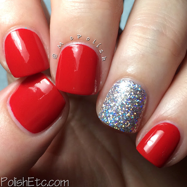 Serendipity Nail Polish - Coastal Christmas Collection - McPolish - Big Red Bow and Holo-Day Lights