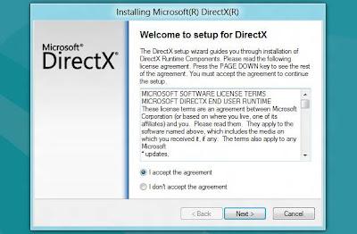 Assistente de atualização do DirectX