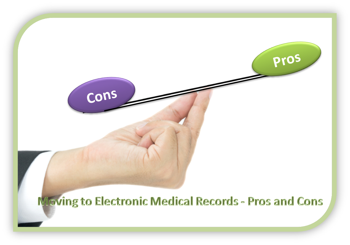 pros and cons of electronic patient records information technology essay 371 power-related health information systems studies   1998, nhs  executive 2001, parlimentary office of science and technology 2004)  risks,  and as yet unrealised benefits of electronic patient records (jones 2003   williams  which eprs can both benefit and disadvantage clinical users and  justifies a focus on.