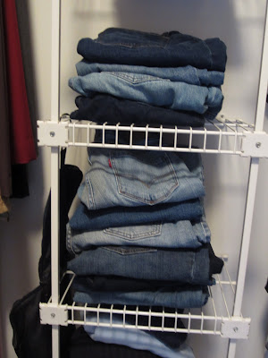 Storage for jeans
