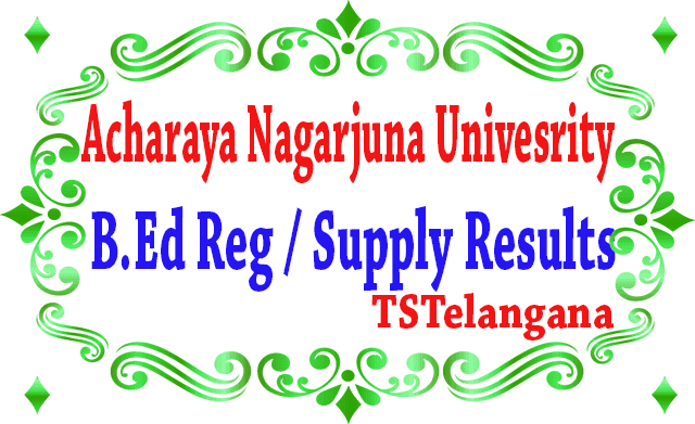 B Ed Reg / Supply Results