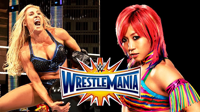 Asuka vs Charlotte Flair for Smack Down Women Championship at Wrestlemania 34