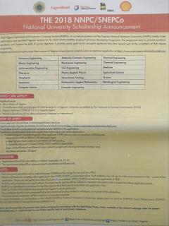NNPC / SNEPCo 2018 Scholarship Program For Nigerian Students
