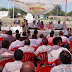 Federation of Ministerial Service Associations Uttar Pradesh staged dharna