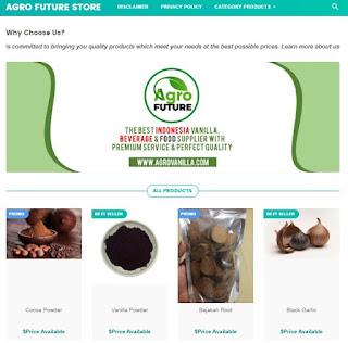 Hasil dari template blogspot menghasilkan toko online yg kece sekali