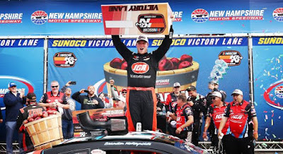 Brandon McReynolds celebrates his first career #NASCAR K&N  Pro Series East win at New Hampshire