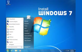 Cara Mudah Install Windows 7 versi 32 bit Untuk Pemula