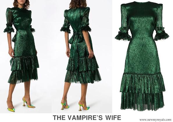 Princess Beatrice of York wore THE VAMPIRE'S WIFE Veneration leaf print midi dress