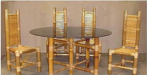 A mi manera hacer una mesa de comedor con bamb for Como hacer una mesa de comedor