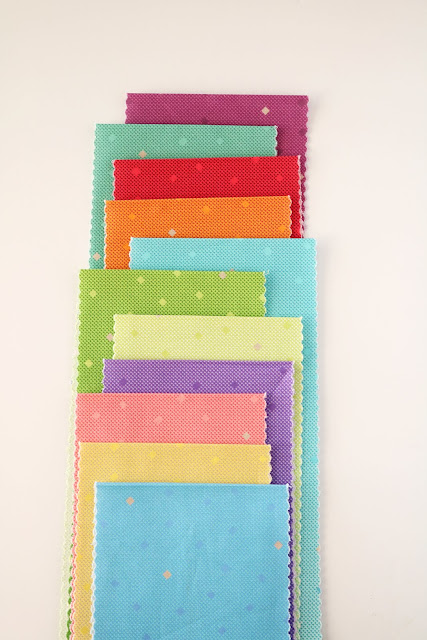 Gem Stones Brights fabrics found on A Bright Corner - fun ombre fabrics to use in your favorite quilt patterns