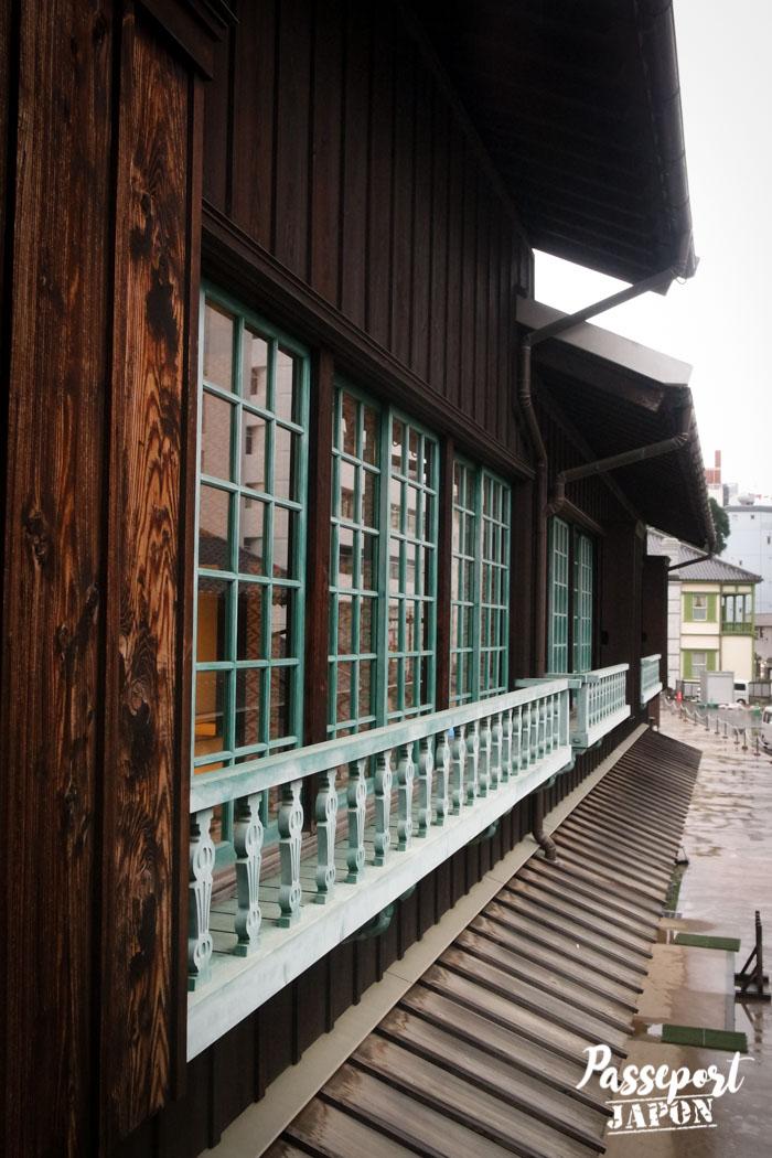 Détail fenêtres des habitations, Dejima, Nagasaki, Kyushu