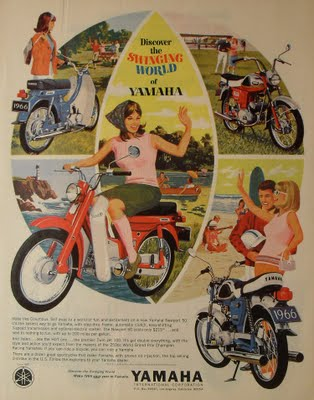 Four Leisure Time Motorbike Ads 1940s 1960s Vintage