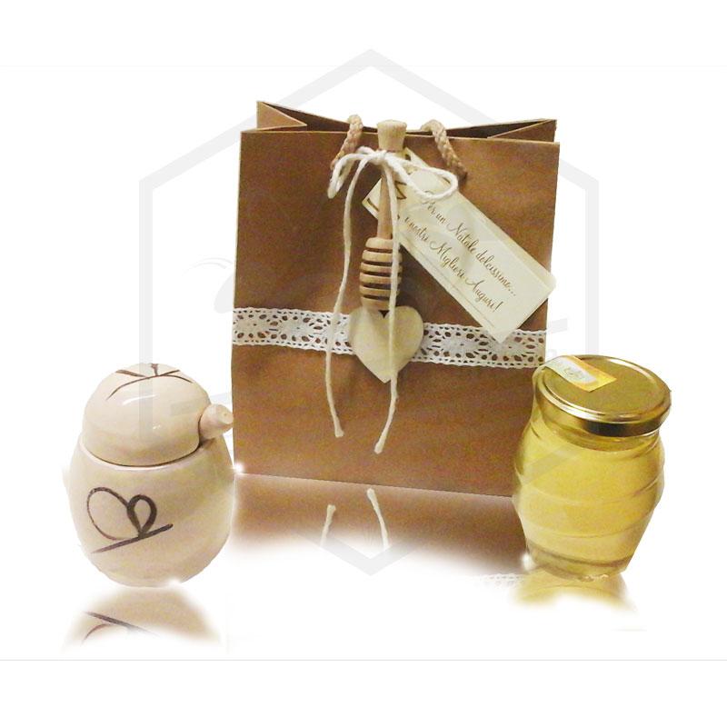 Conosciuto TIPICO MIELE: Vasetto porta miele bomboniera matrimonio IT11