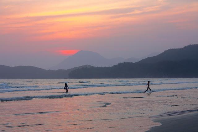 Praia da Fazenda, no Núcleo Picinguaba do Parque Estadual da Serra do Mar, em Ubatuba.