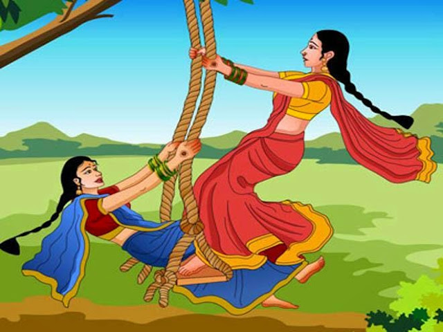 Happy Hariyali Teej Festival Celebration  IMAGES, GIF, ANIMATED GIF, WALLPAPER, STICKER FOR WHATSAPP & FACEBOOK