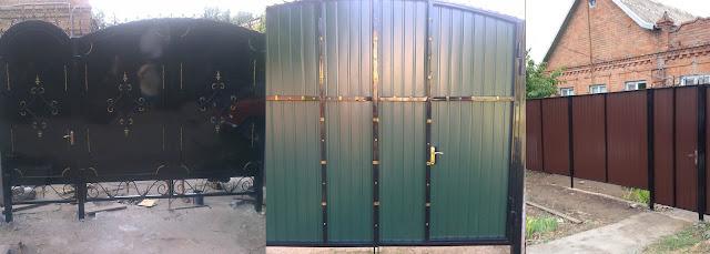 ворота, заборы, решетки, профнастил, откатные, распашные в Никополе