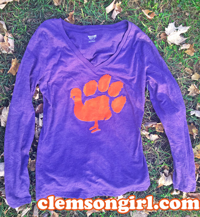 Clemson Girl Happy Thanksgiving A Diy Clemson Shirt Idea